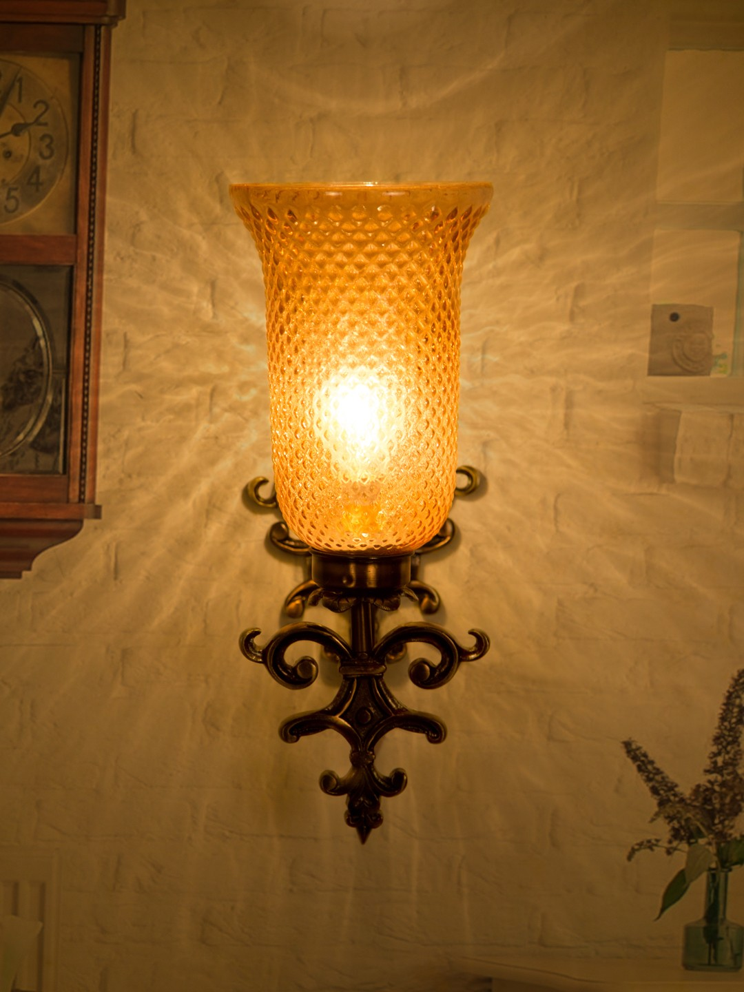 Fos Lighting Spanish antique finished Lustrous Wall Sconce ...