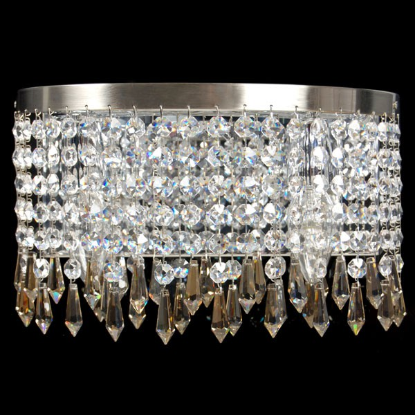 Dazzling Crystal Double Wall Light