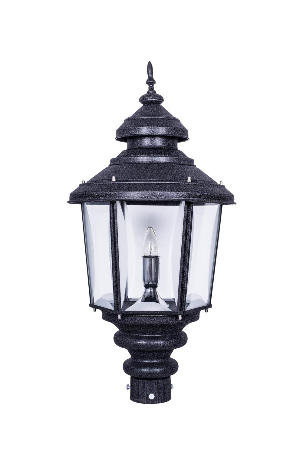 Crinkle Black Large Exterior Gate Light