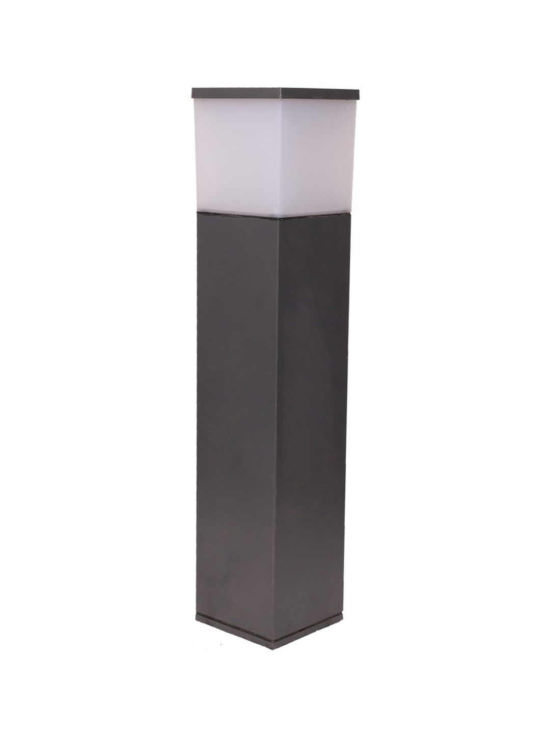 Square Column 29 Inches Grey Bollard