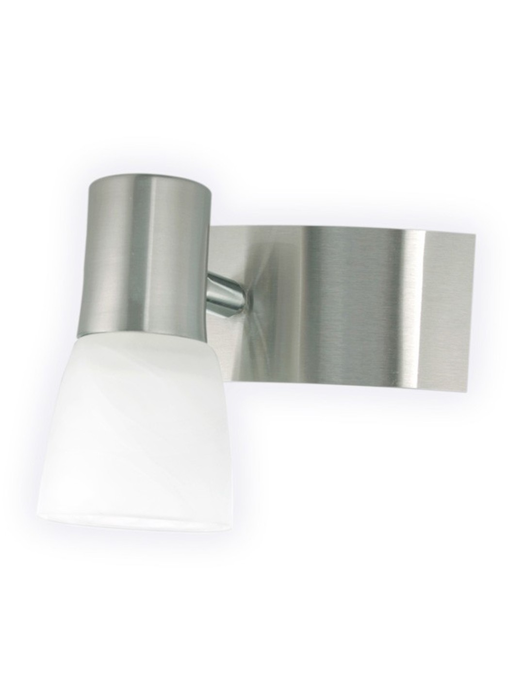 Modern Brushed Steel Spot Wall Light