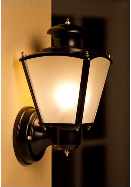 silver grey outdoor wall light