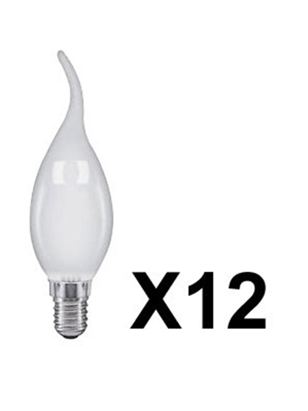 12 Pack Generic 40 W E14 Bent Tip Candle Frost Bulb
