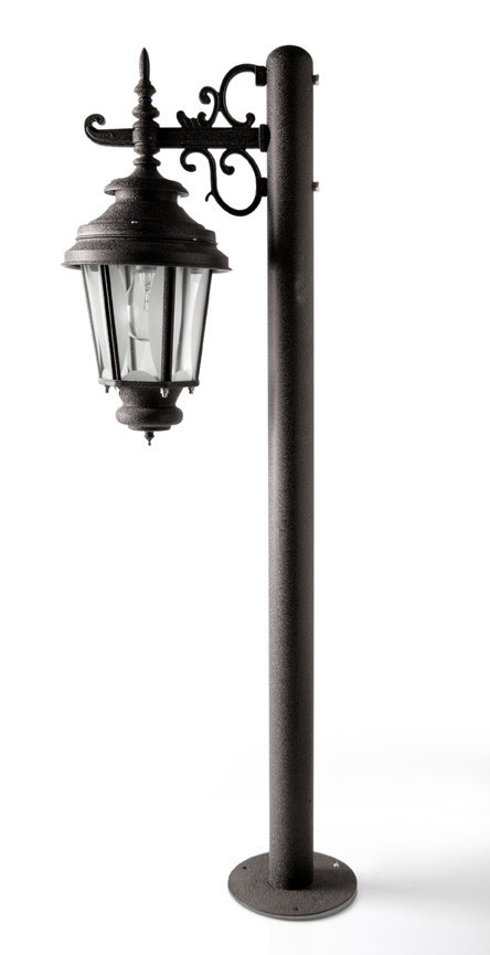 Old World Charm Bollard Black Crinkle