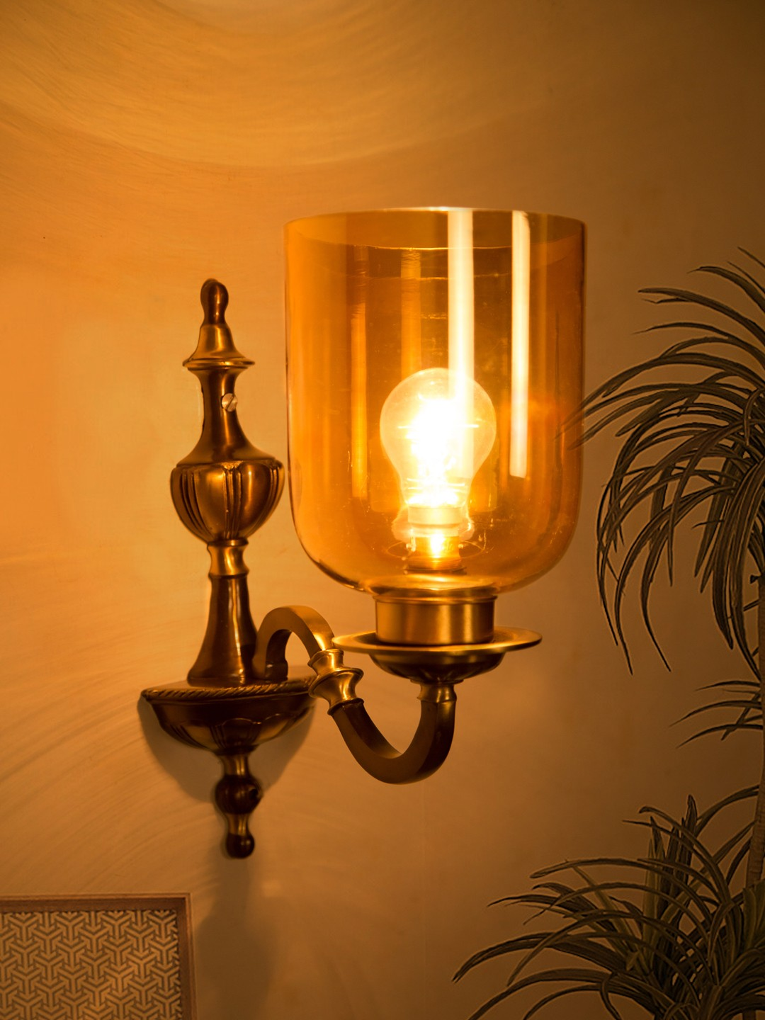 Fos Lighting Golden Luster Hurricane Classic Single Wall Sconce