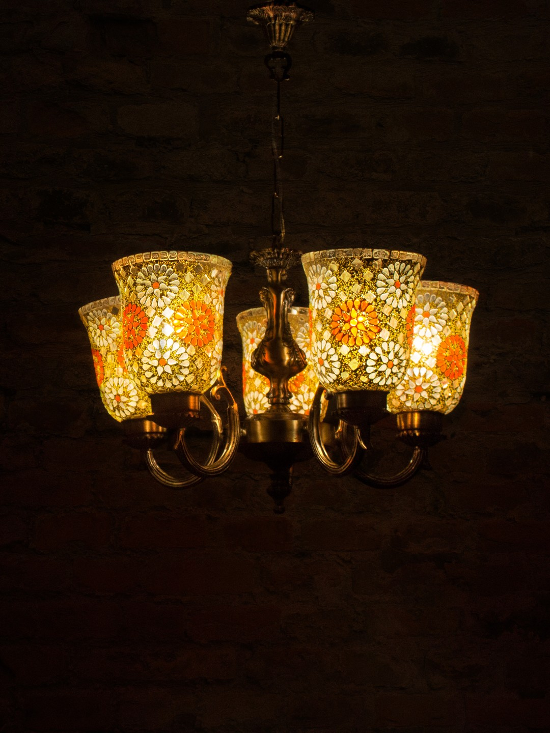 Small Tilak Double U Arm Chandelier