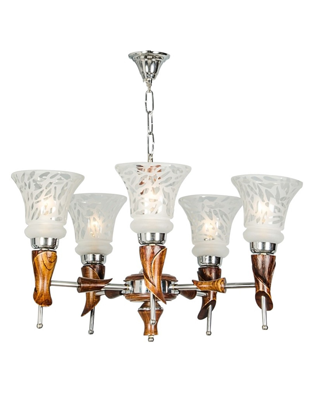 Aston Wood 5 Light Chandelier