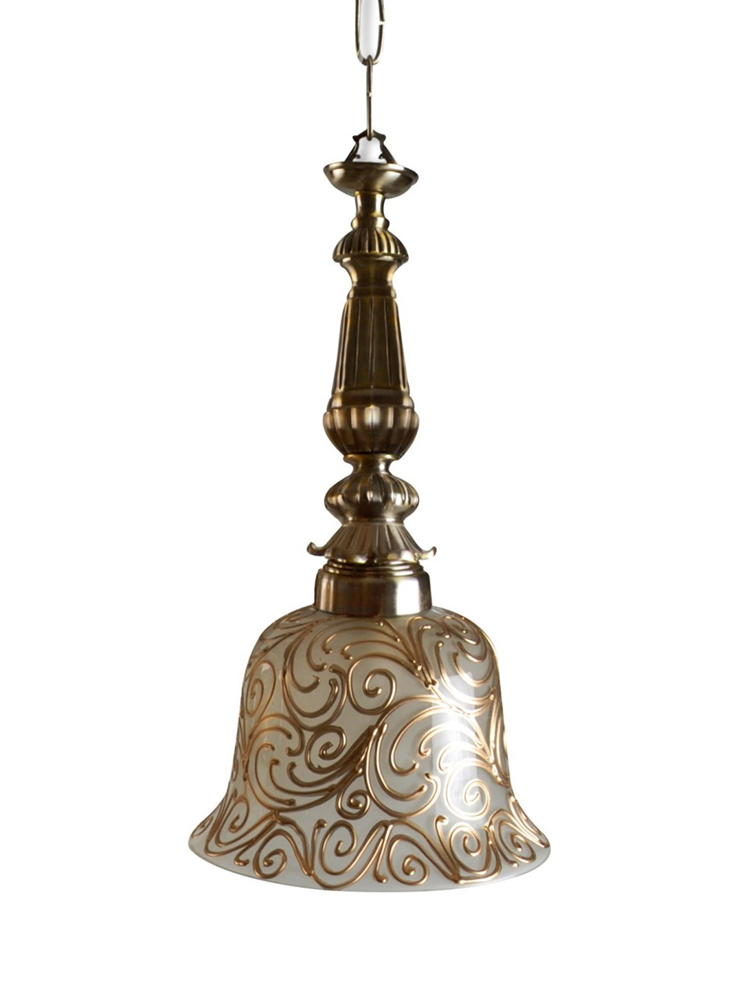 Badam Kapa Antique Brass Pendant Light