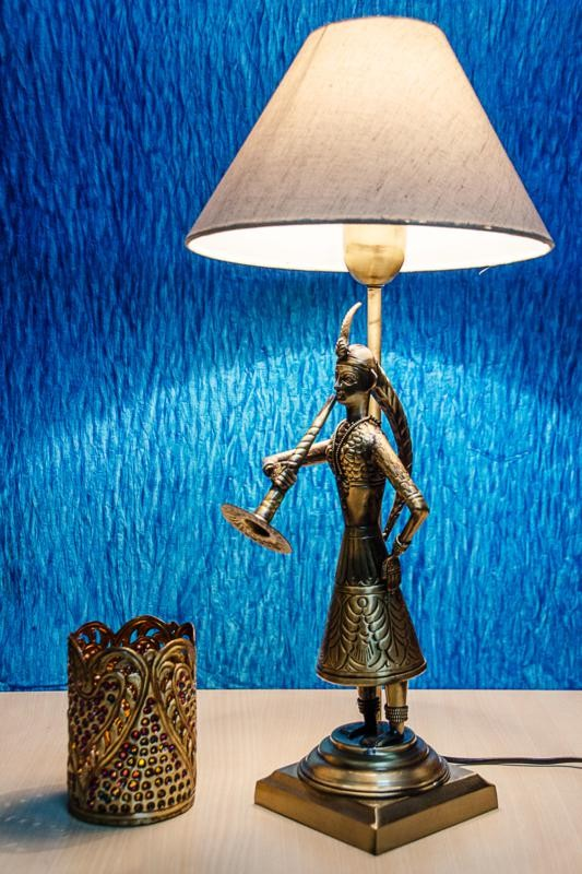Hand Crafted Indian village Bed lamp