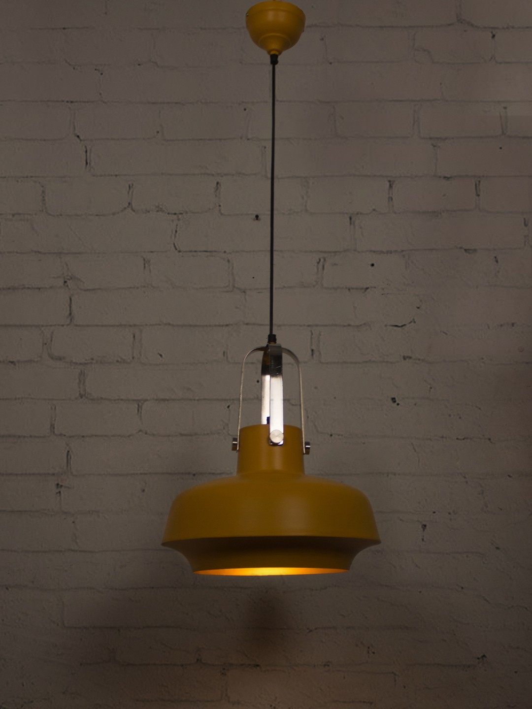 Yellow Industrial Shipyard Pendant Light