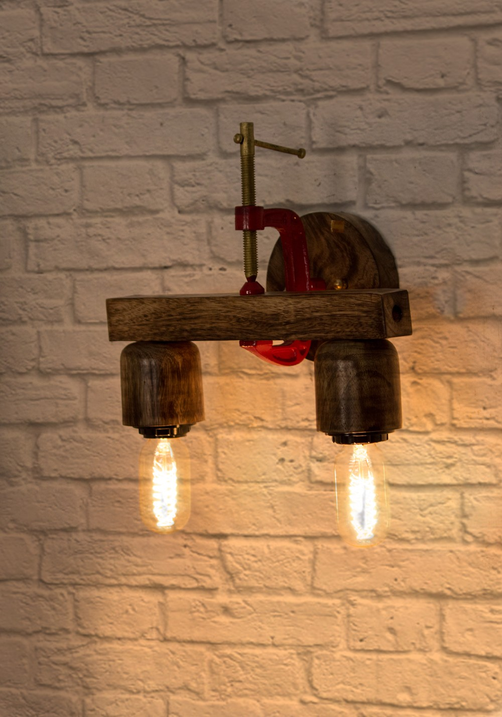 Bench Vice Clamp Wall Light