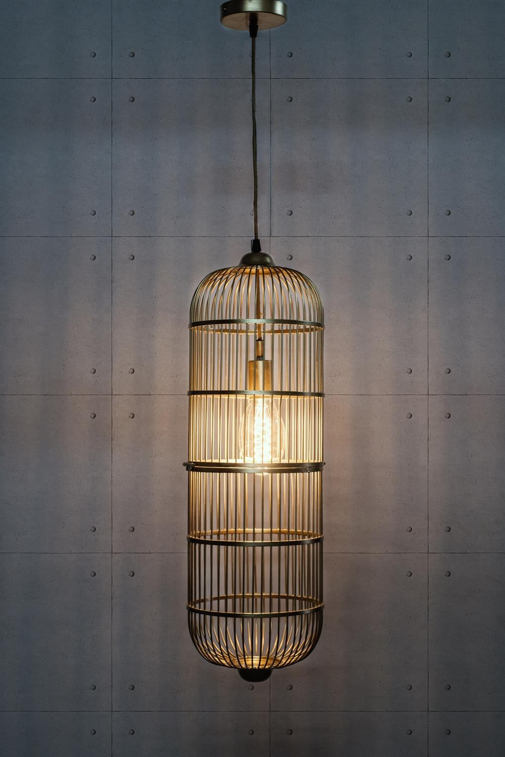 Bird Cage Golden Capsule Pendant Light
