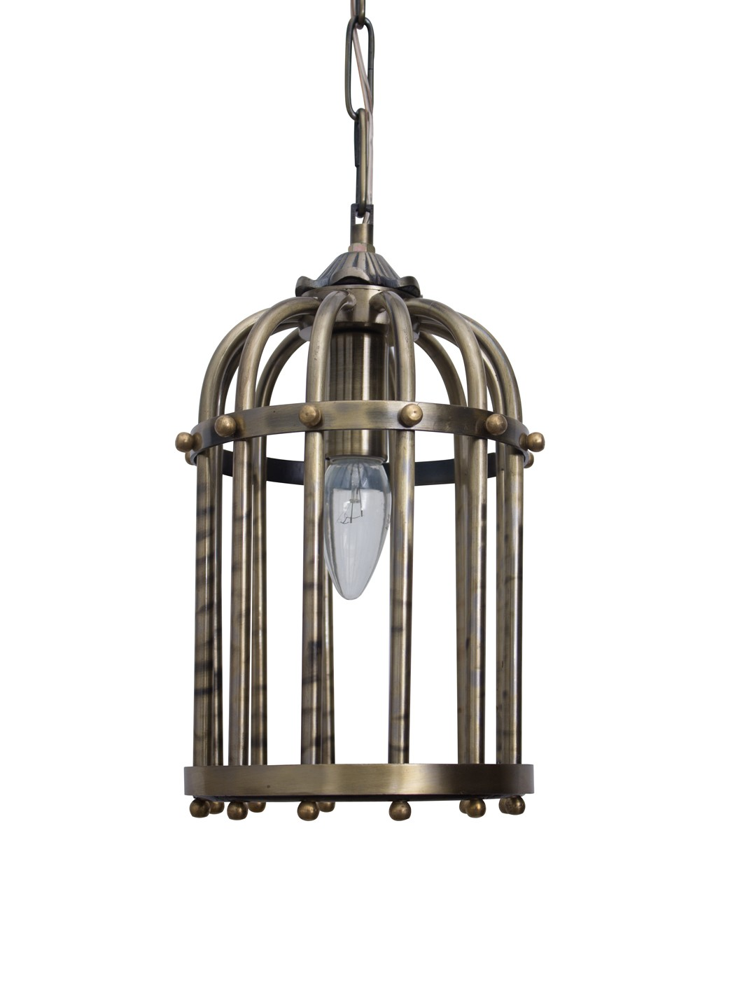 Antique Finished Small Birdcage Hanging Light