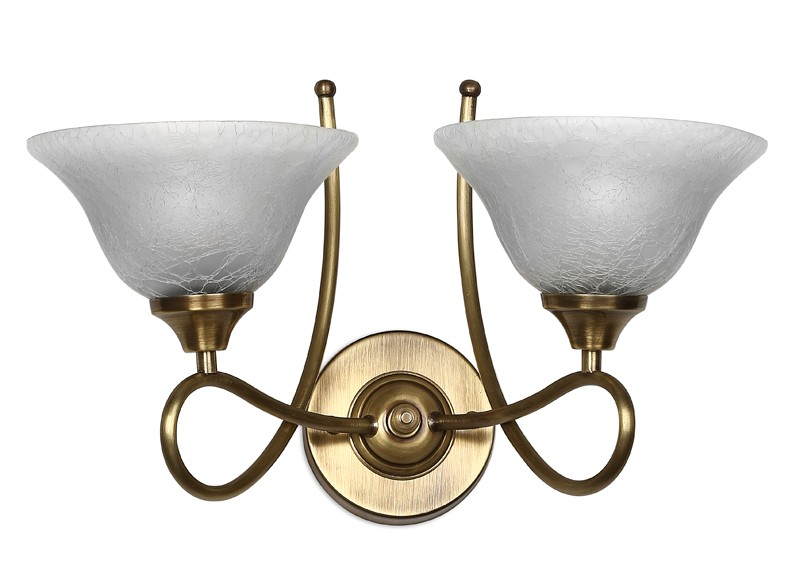 Butterfly Antique Brass Contemporary Double Wall Light