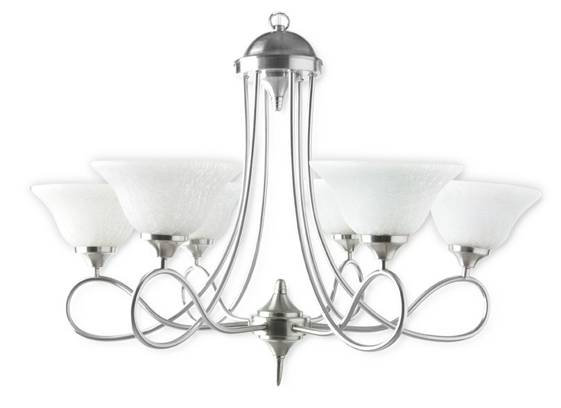 Butterfly Satin Steel Contemporary Chandelier