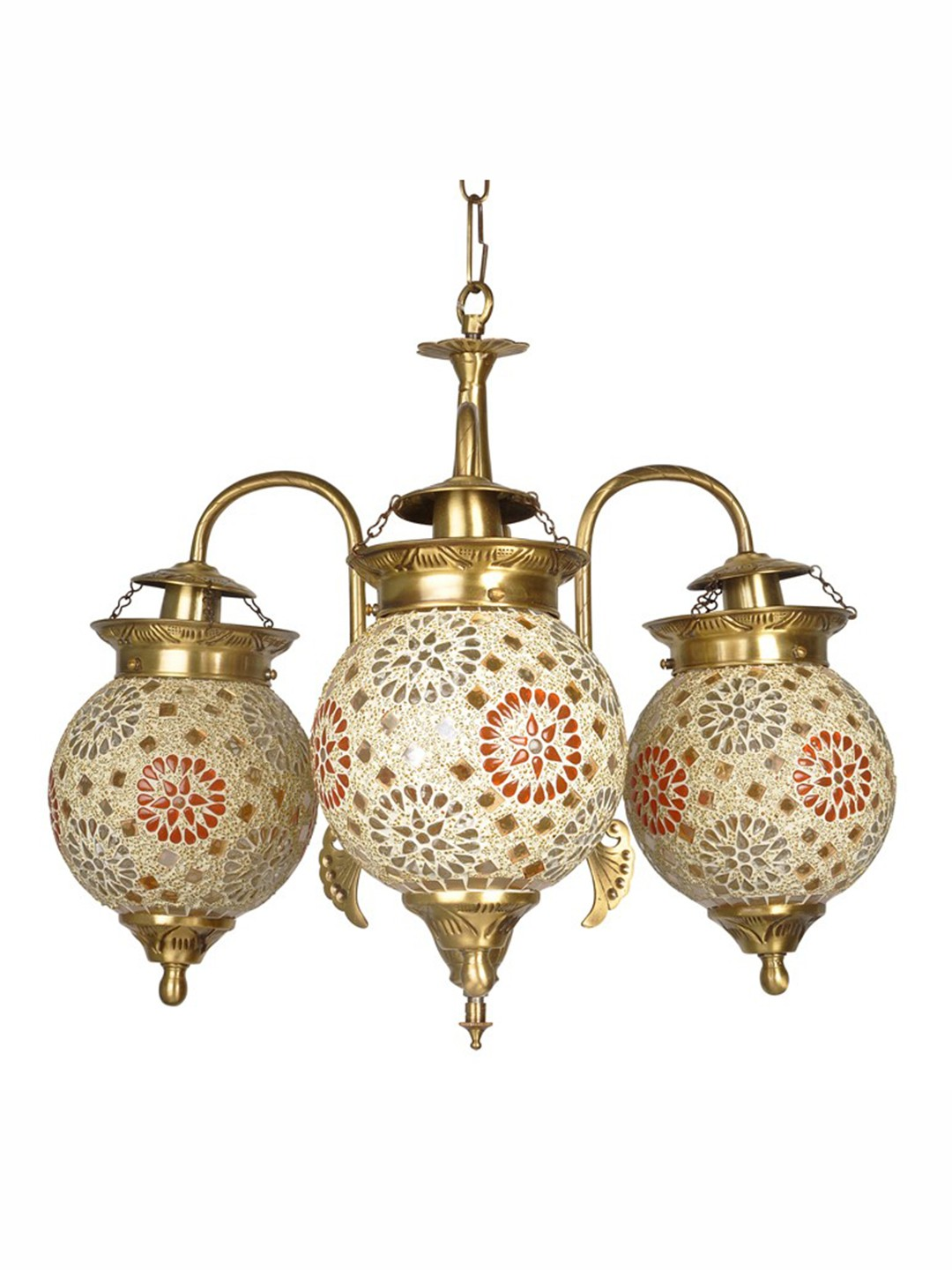 Tilak Golden Globes 3 Light Small Chandelier
