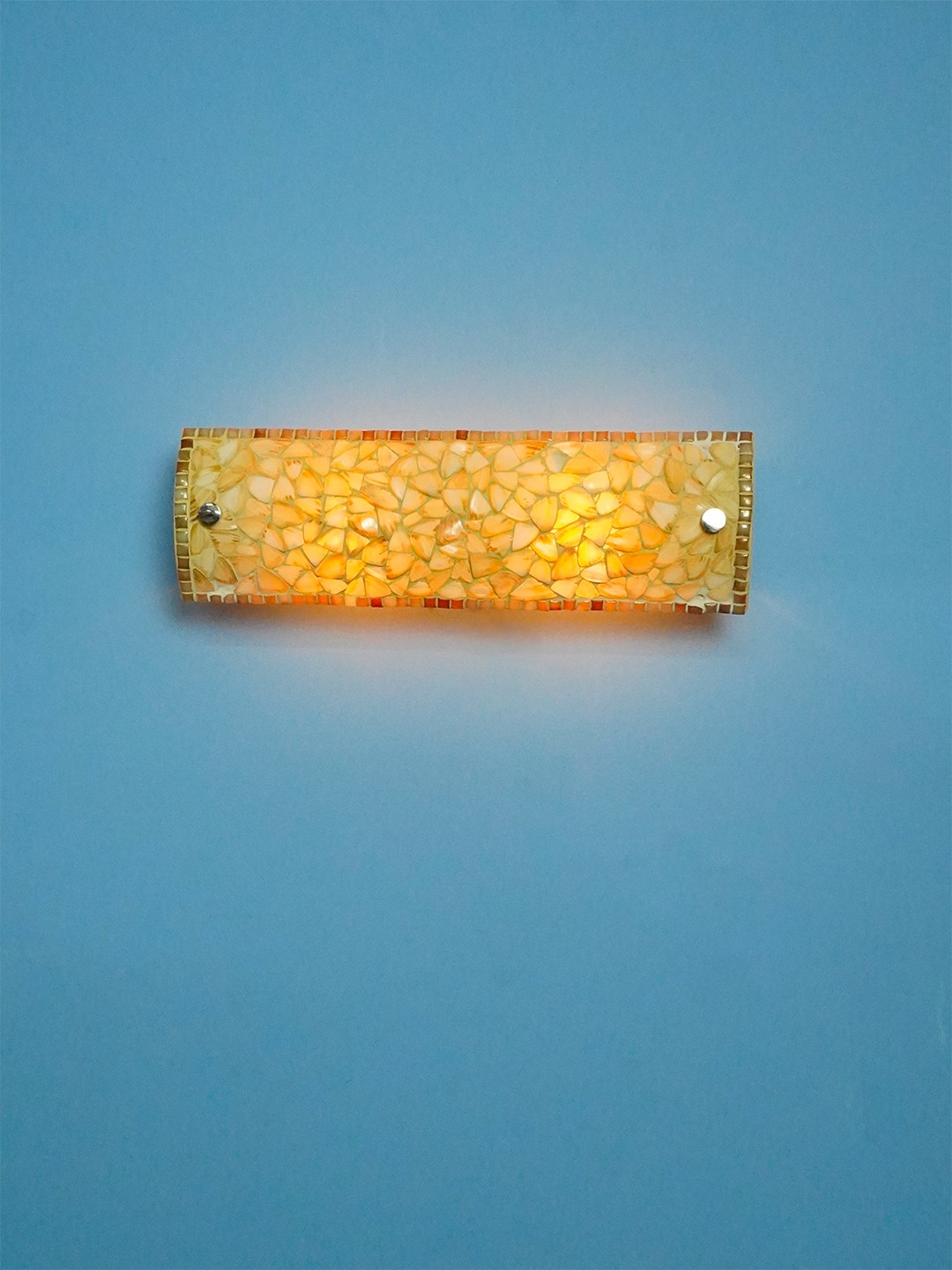 Natural Mother of Pearl Vanity Light