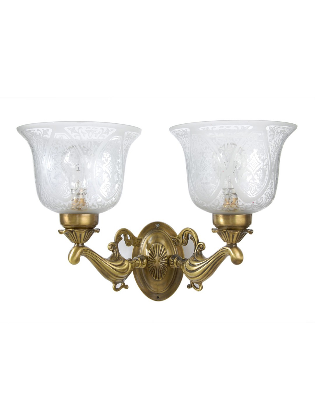 Cast Brass Chirag Double Wall Light