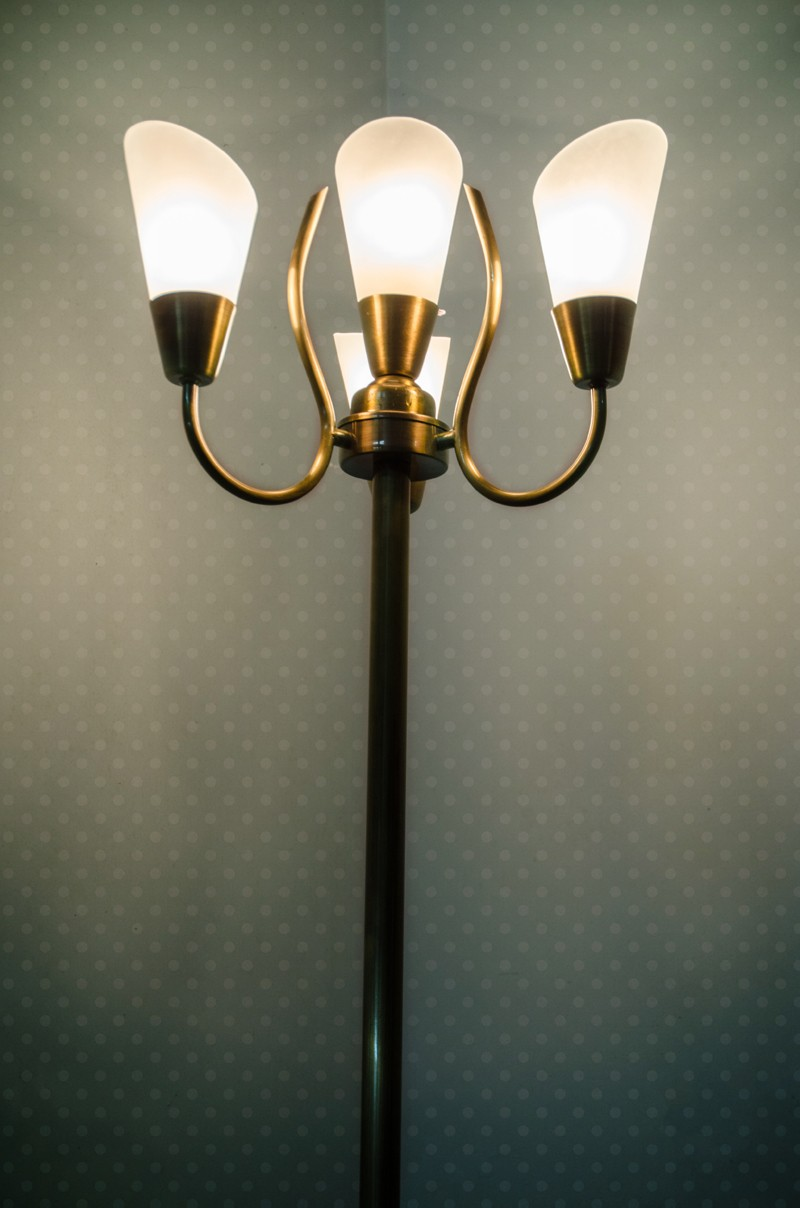 Modern Cone Antique Brass Floor Lamp