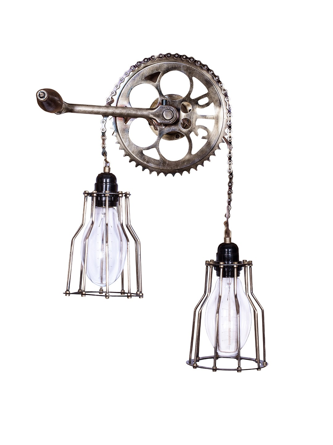 Cycle Gear Chain Wall Light