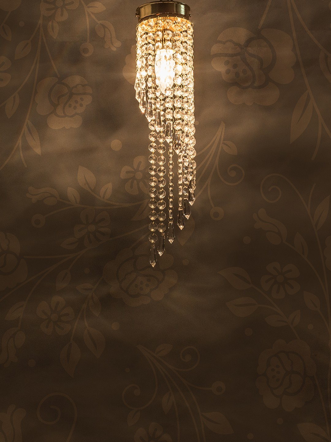 Brilliant Spiral Crystal Golden Flush Mount Ceiling Light