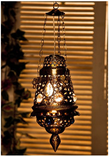 Antique Finish Moroccan Brass Hanging Light