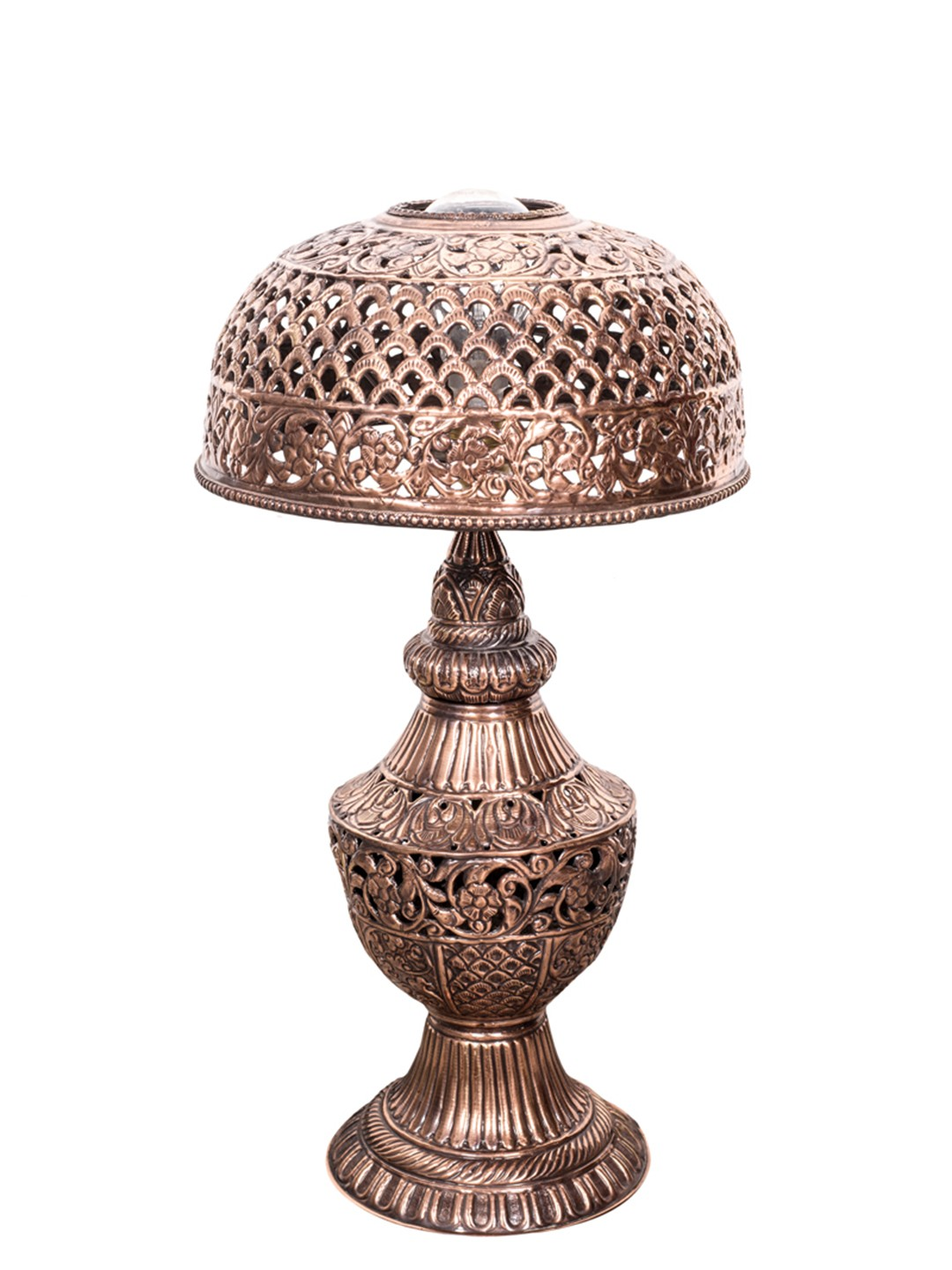 Jodhpur Hand Tooled Copper Table Lamp