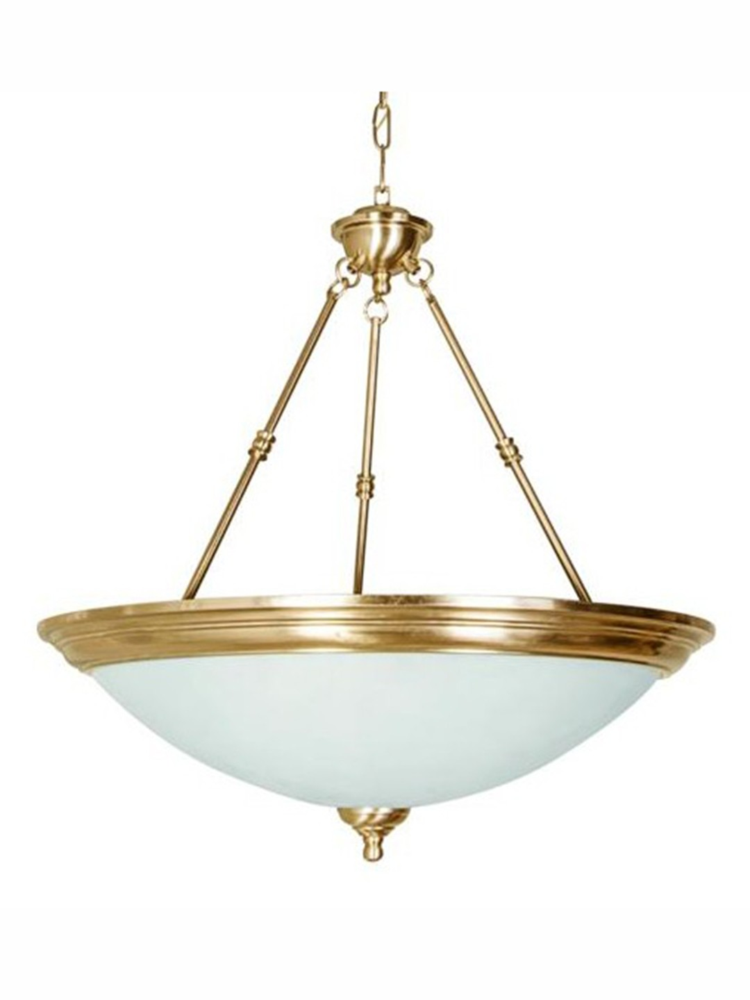 Dish Antique Brass Top Covered 5 Light Hanging Light