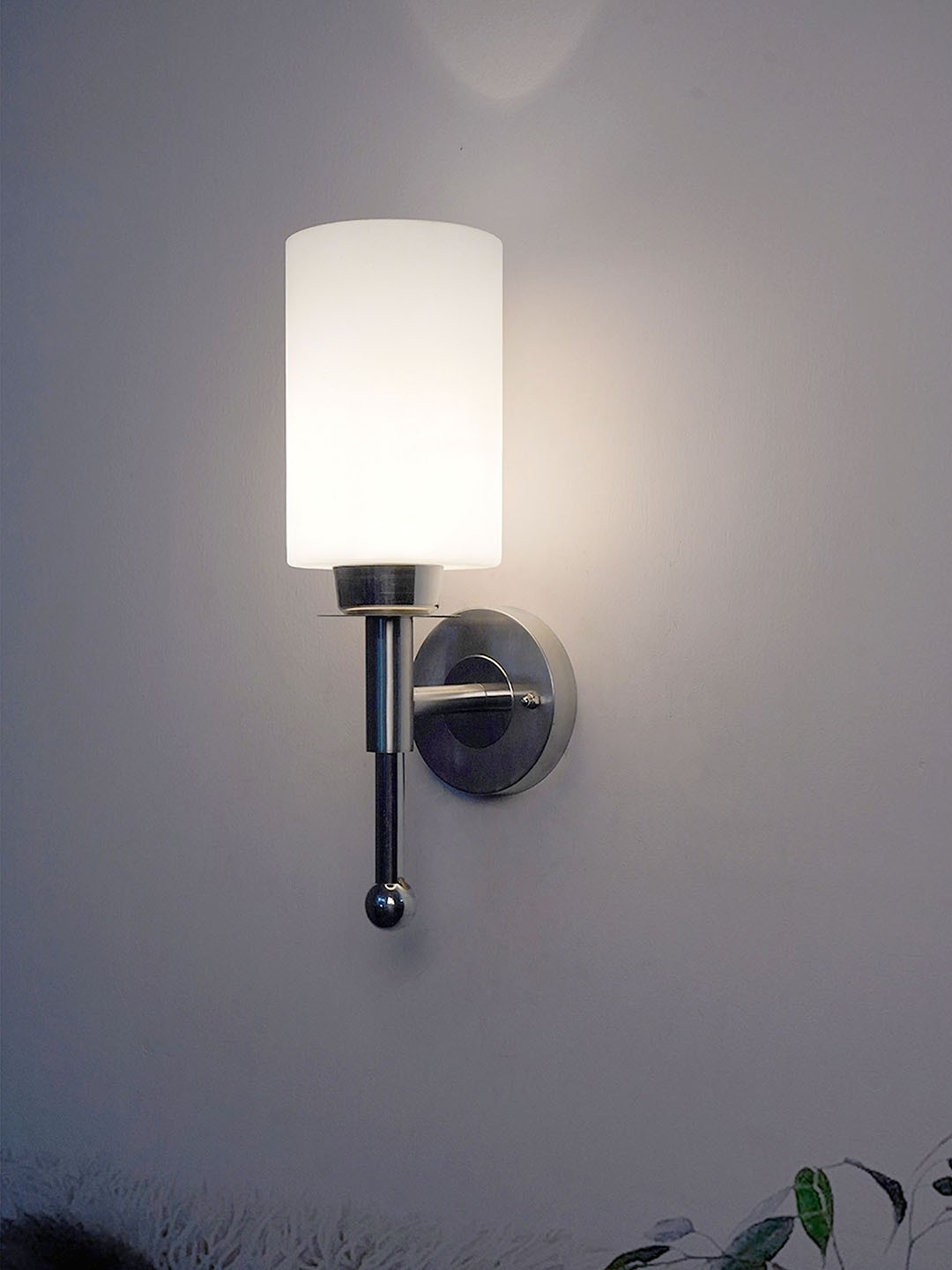 Antique Designed Silver Colour Wall Light Round Shape Stainless Steel Wall Lamps for Decoration