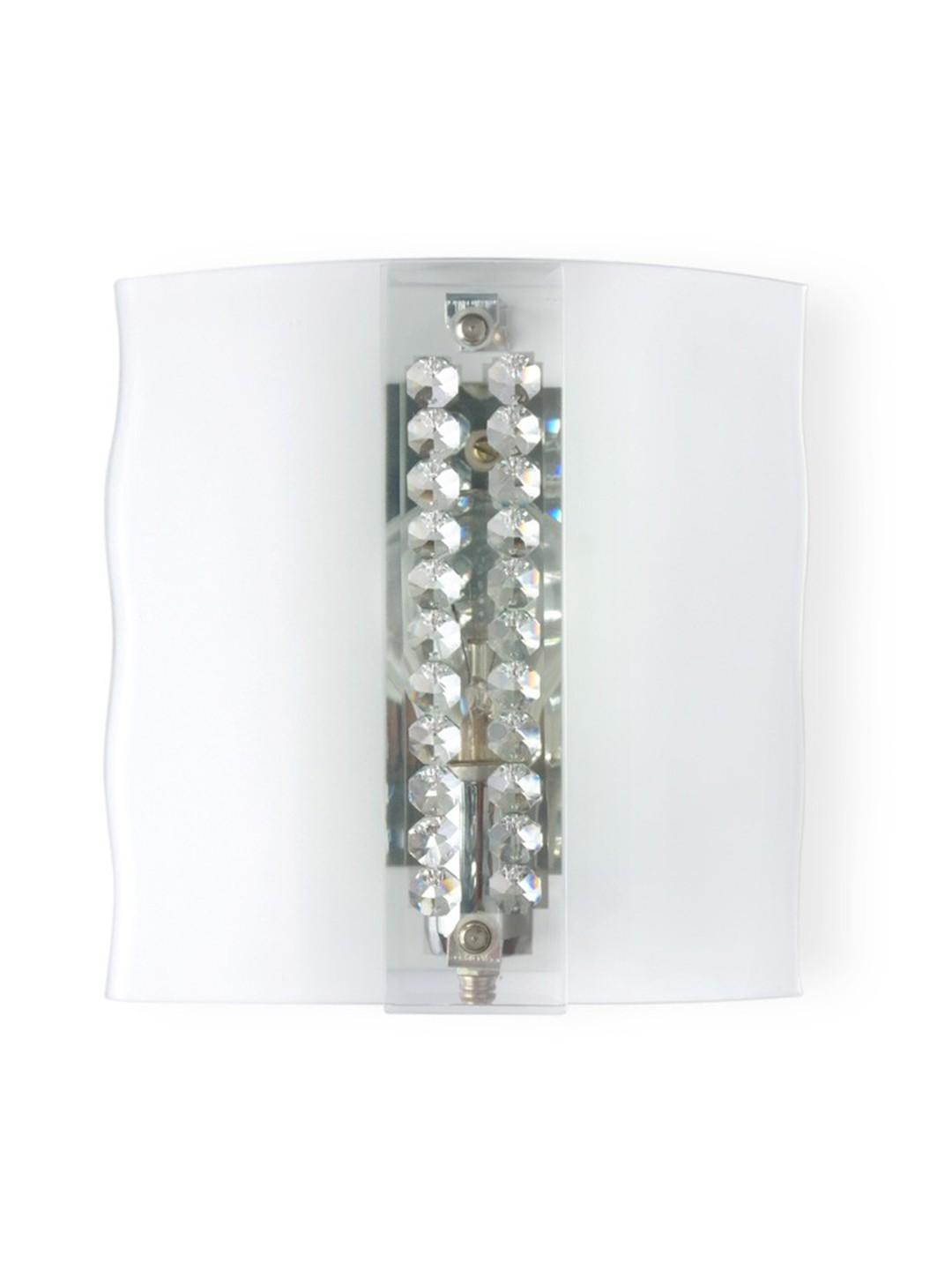 Crystal Studded Frosted Glass Wall Light