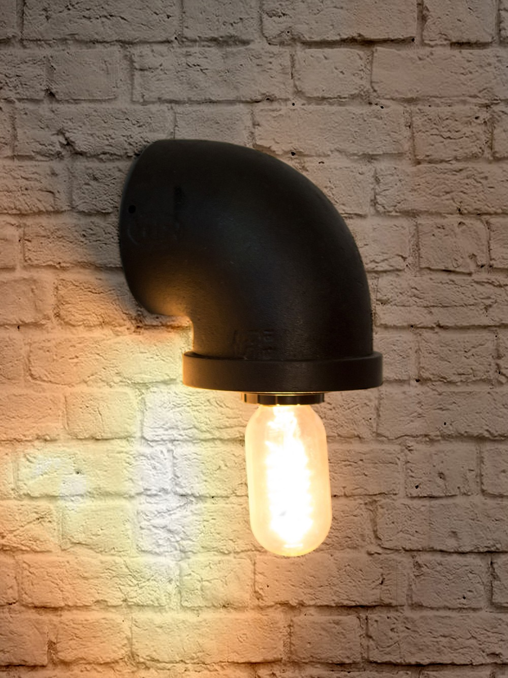 Industial Elbow Wall Light