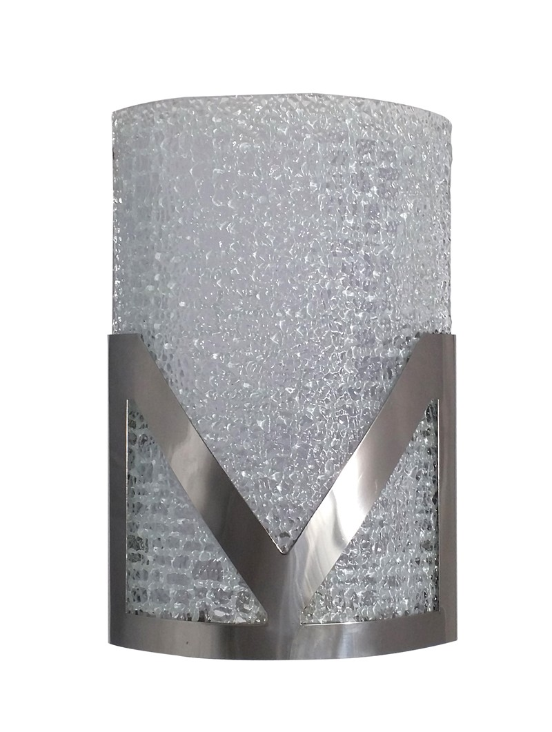 Victorious Textured Chrome Single Wall Light