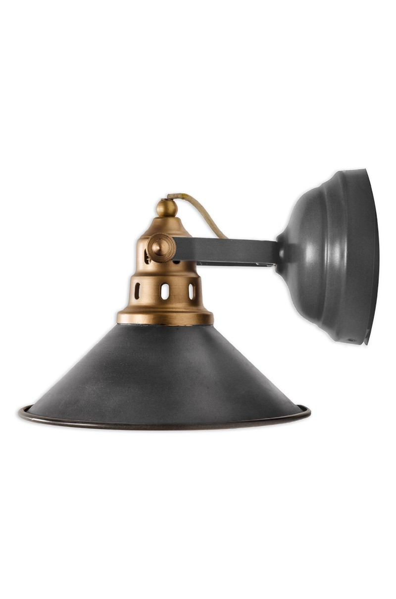 Factory Grey Adjustable Wall Sconce