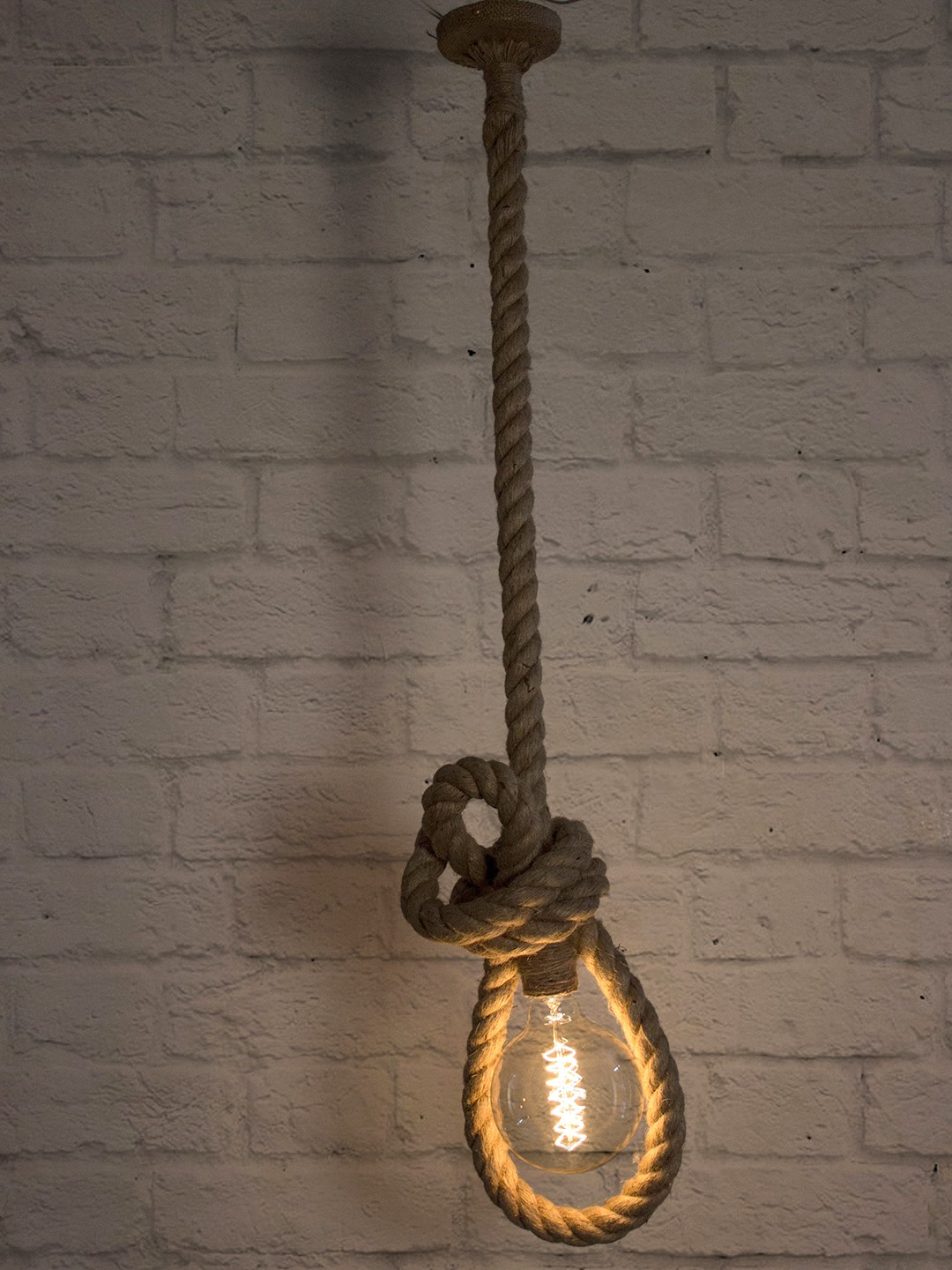 Bowline Knotted Rope Pendant Light