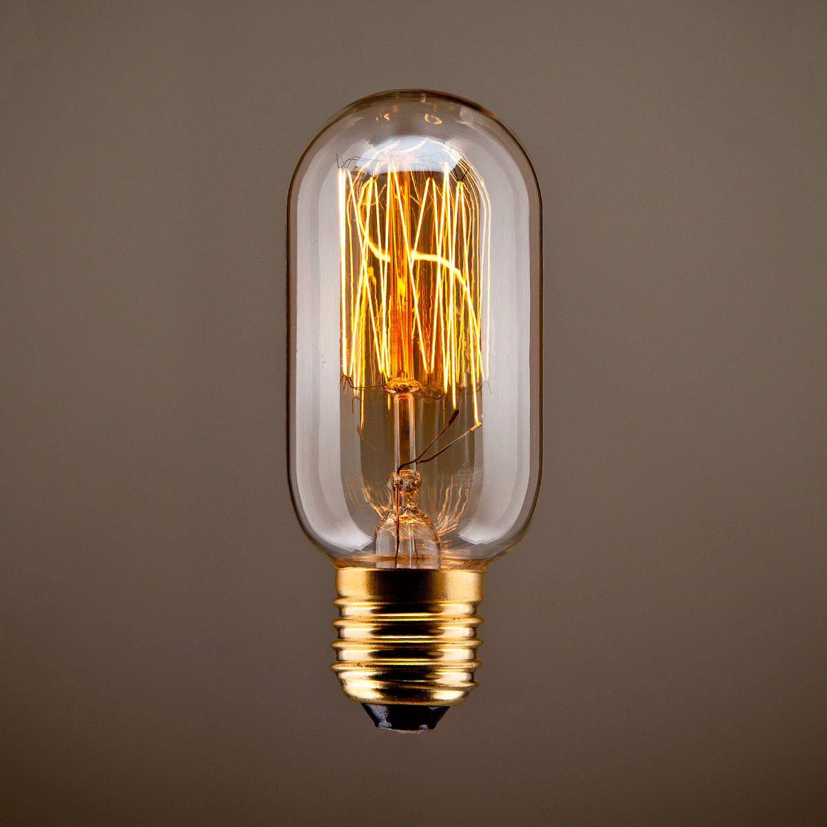 Vintage Tube Squirrel Filament Bulb