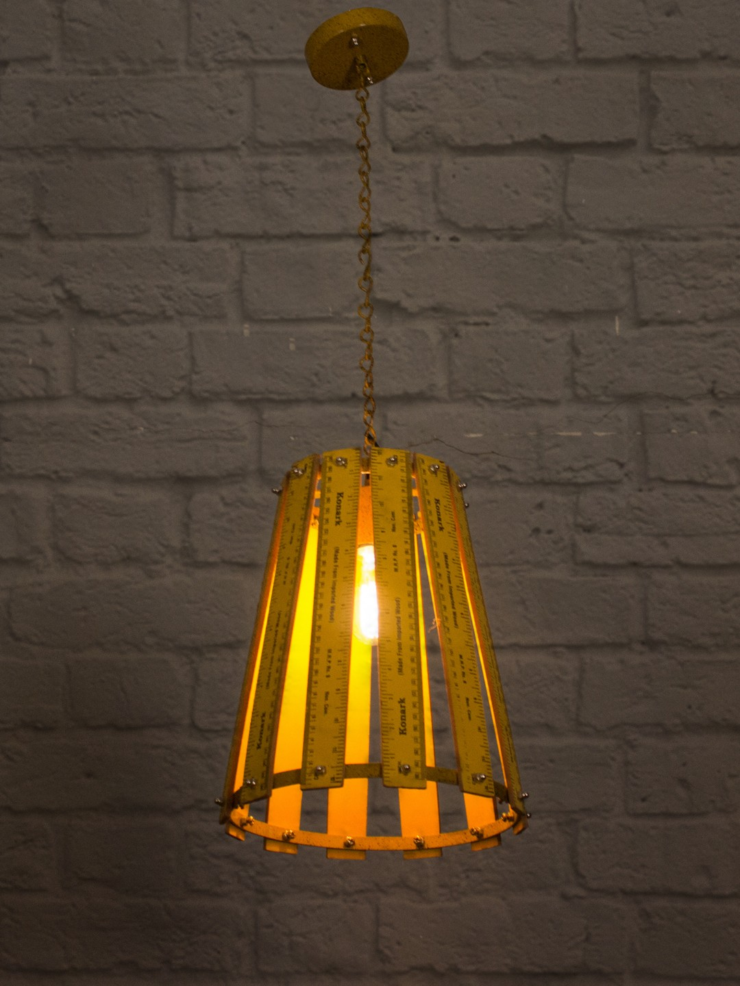 Foot Ruler Pendant Light