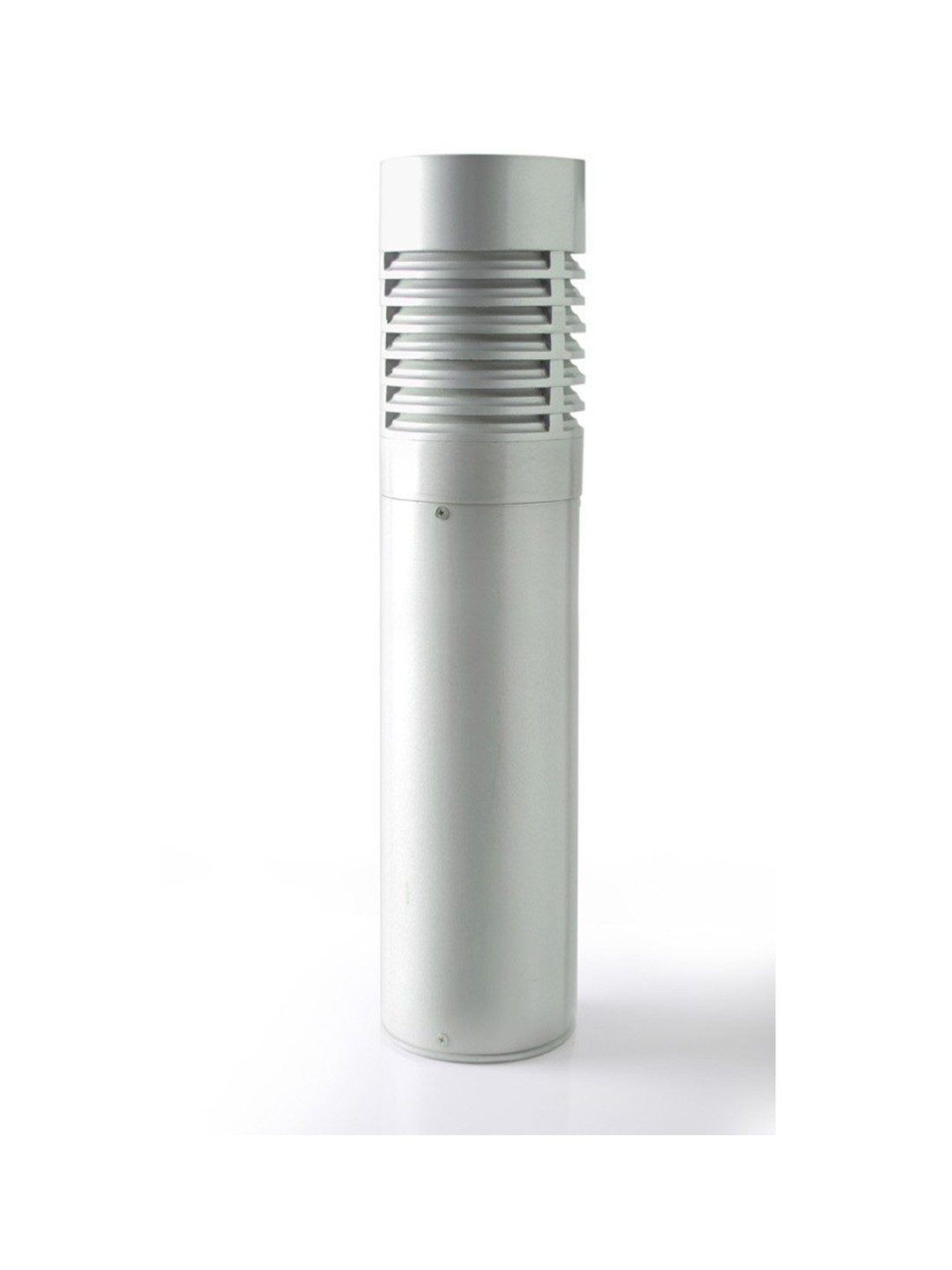 Contemporary Cast Louvered Bollard Light
