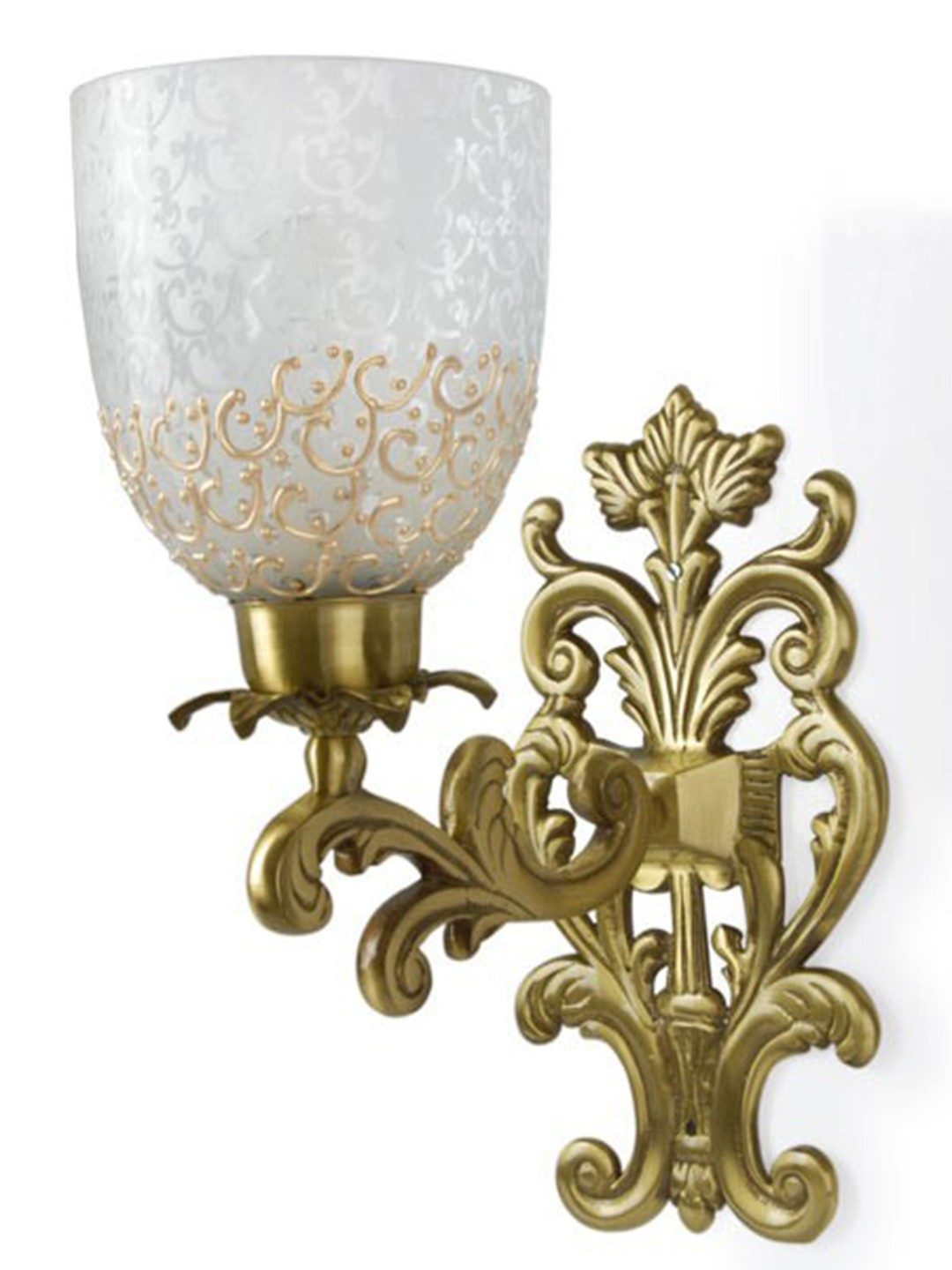 Guldasta Single Antique Brass Sconce