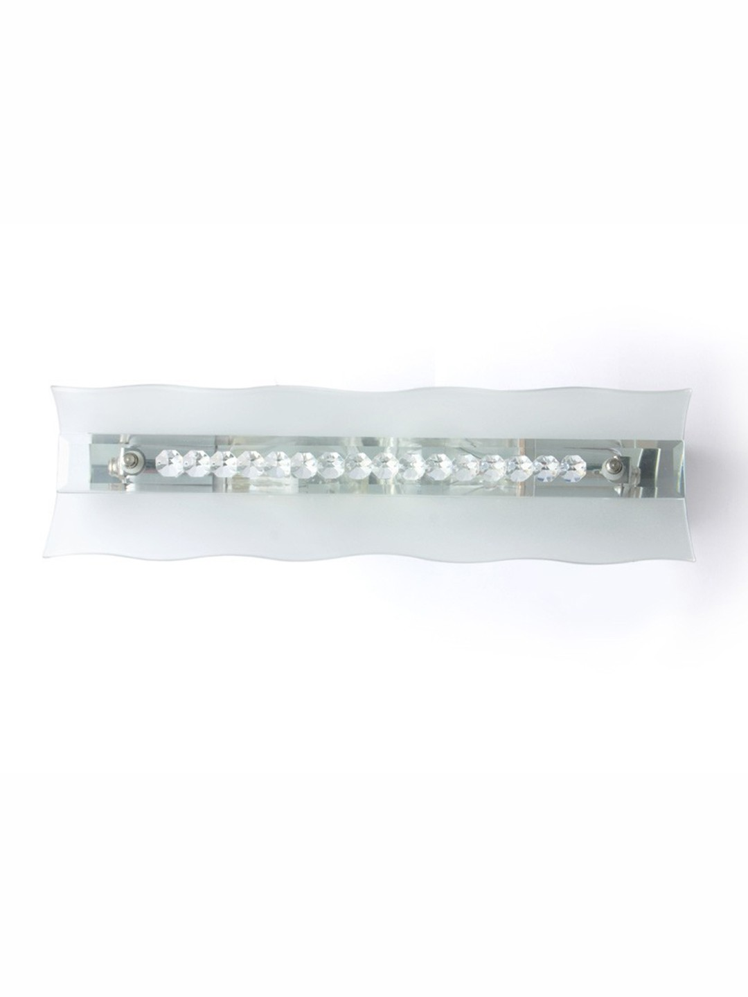 Crystal Studded Frosted Glass Vanity Light