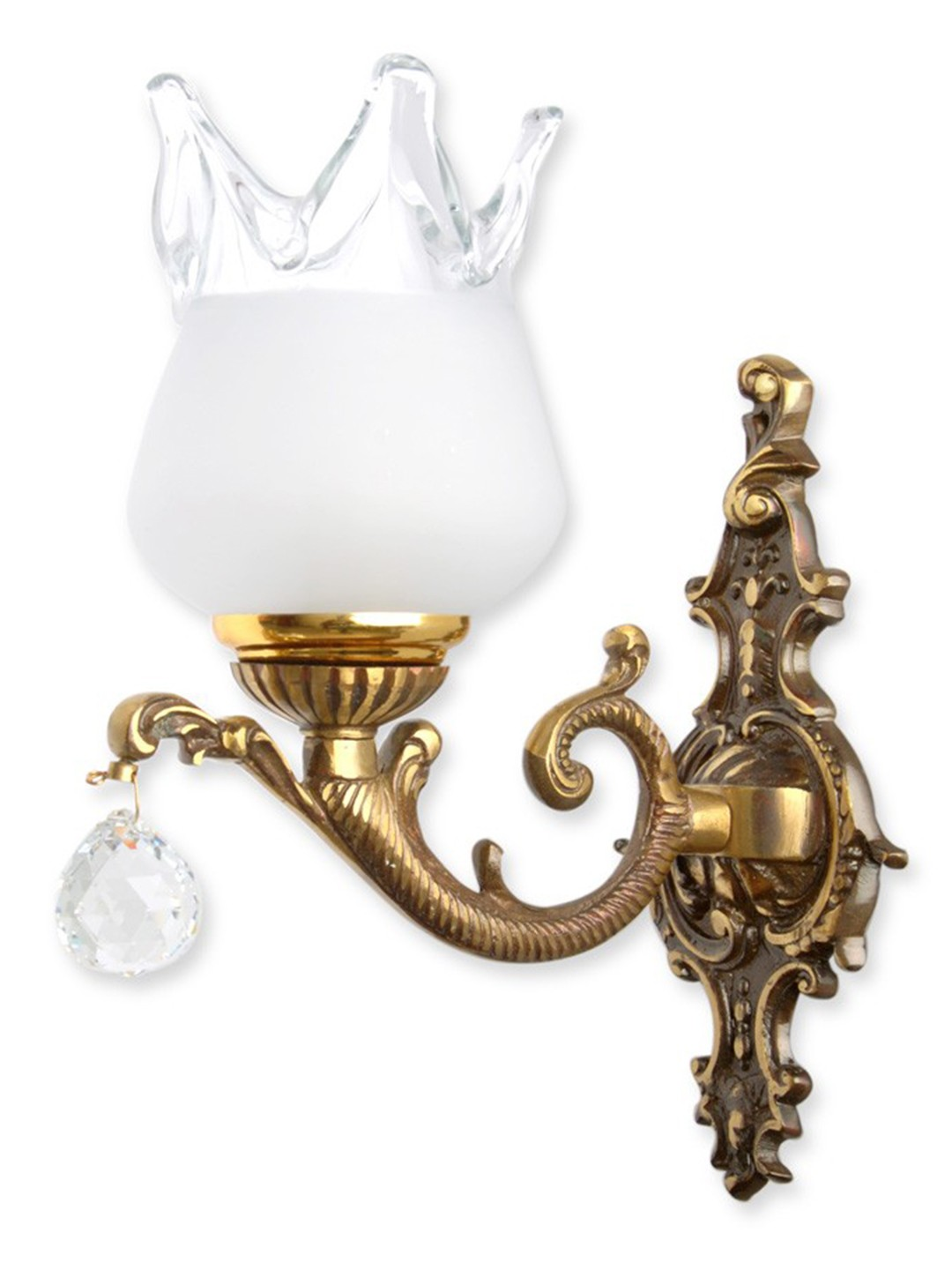 Antique Crystal Ball Single Wall Lamp