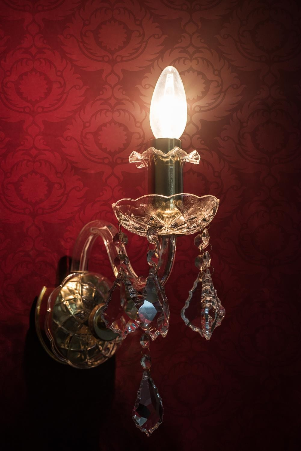 Classic Bohemian Candelabra Single Wall Sconce