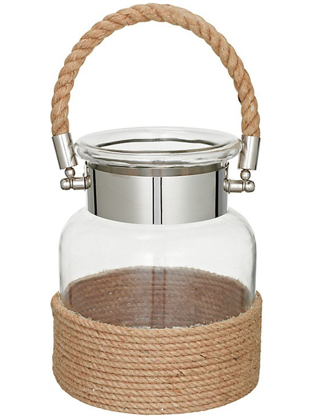 Rafiya Rope Glass Jar Candle Holder