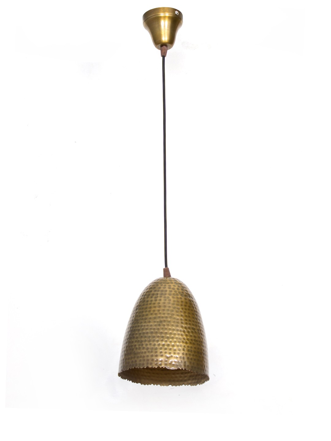 Mini Bell Serrated Hammered Hanging Light