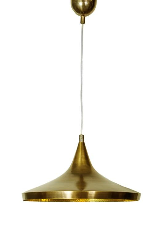 Hammered Conical Pendant Light