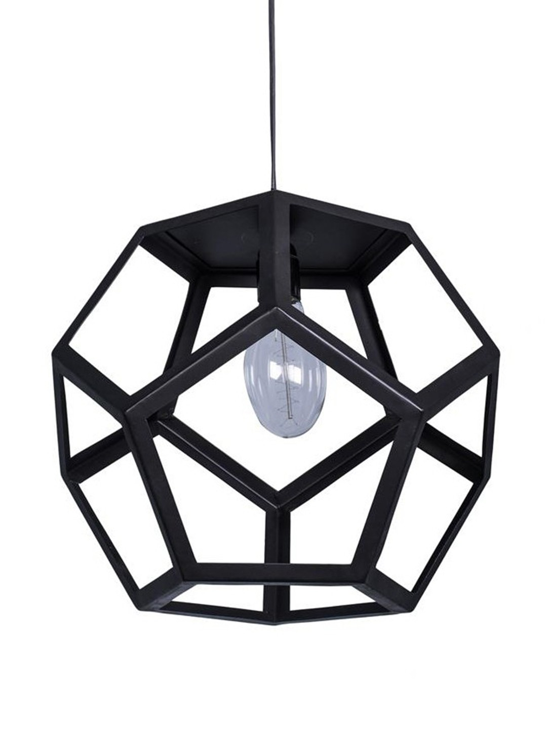 Polyhedron Black Industrial Pendant Hanging Light
