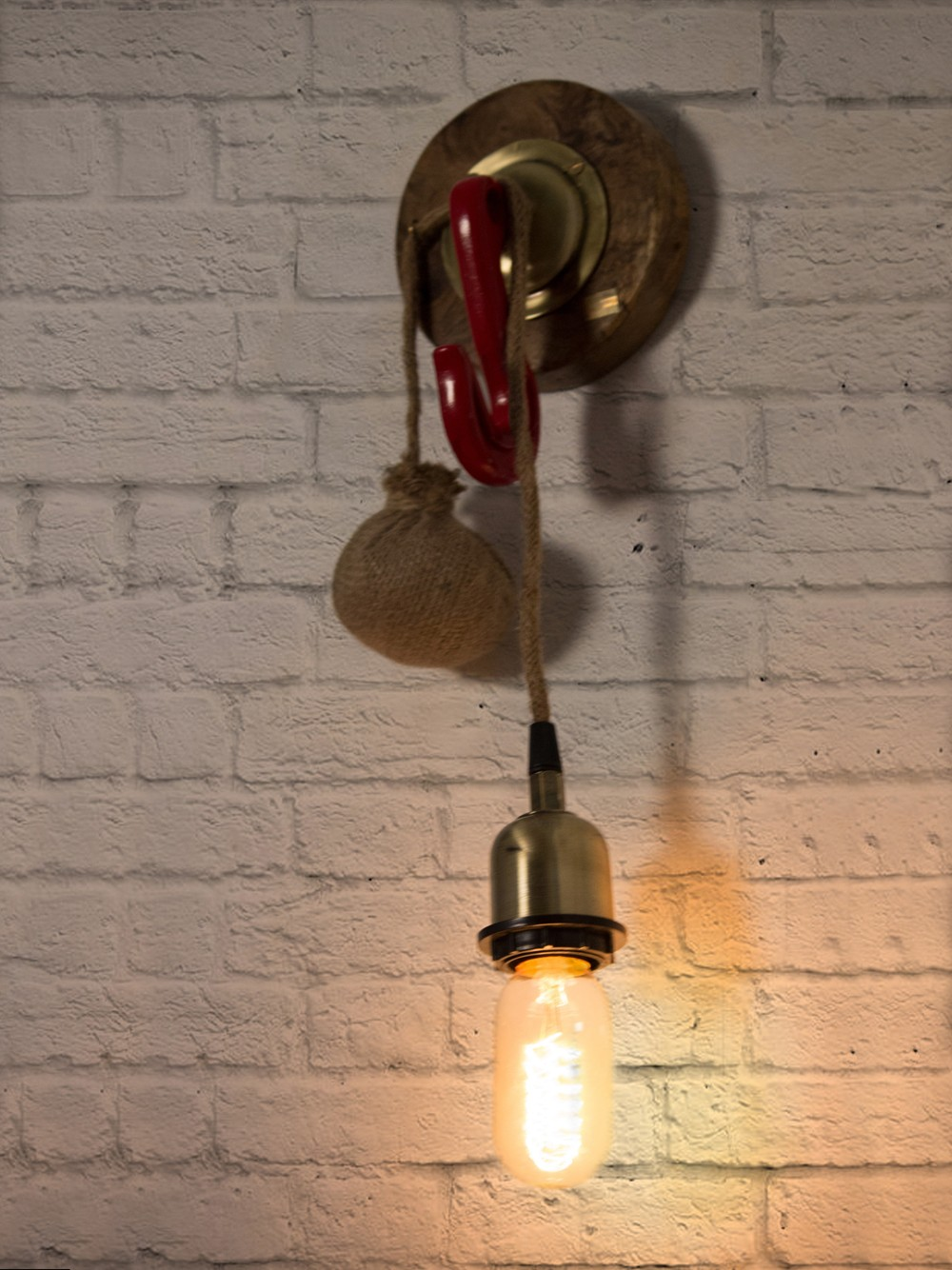Industrial Hook Wall Light