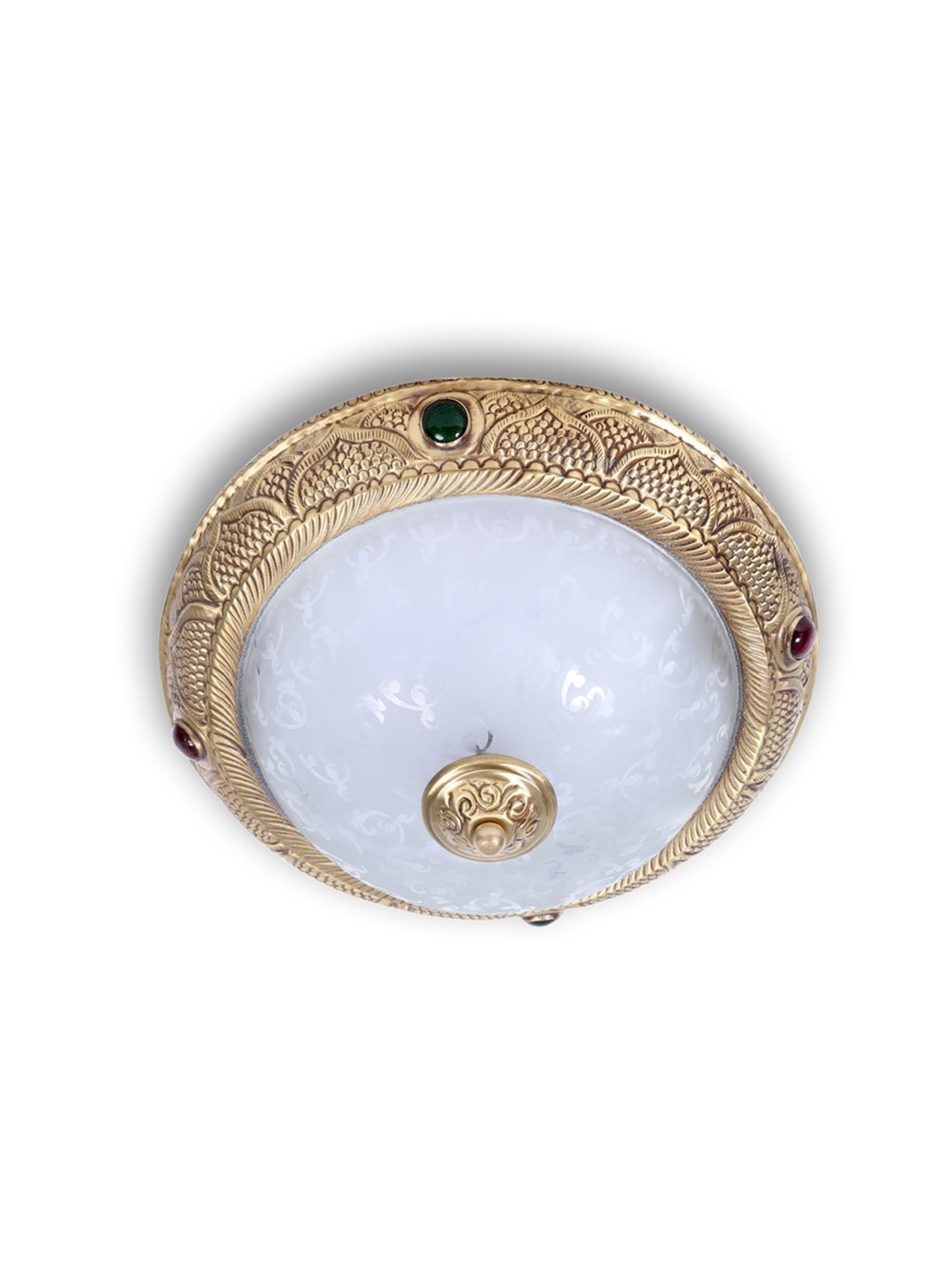 Studded Parinda Brass Ceiling Light