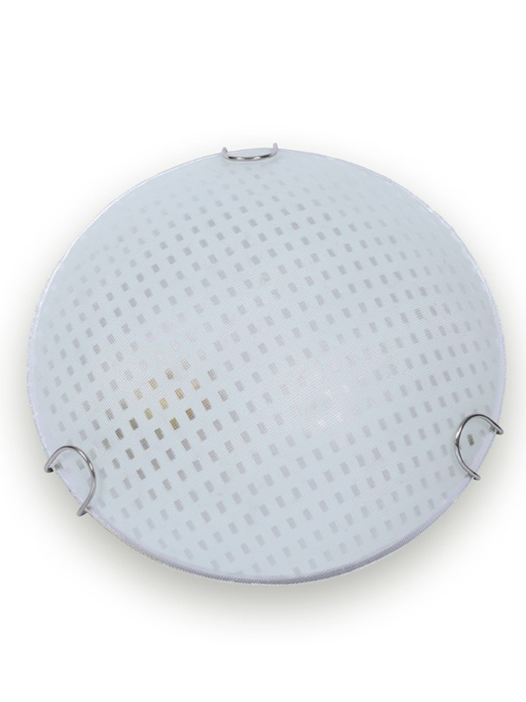 Round Checkered Glass Small Ceiling Light