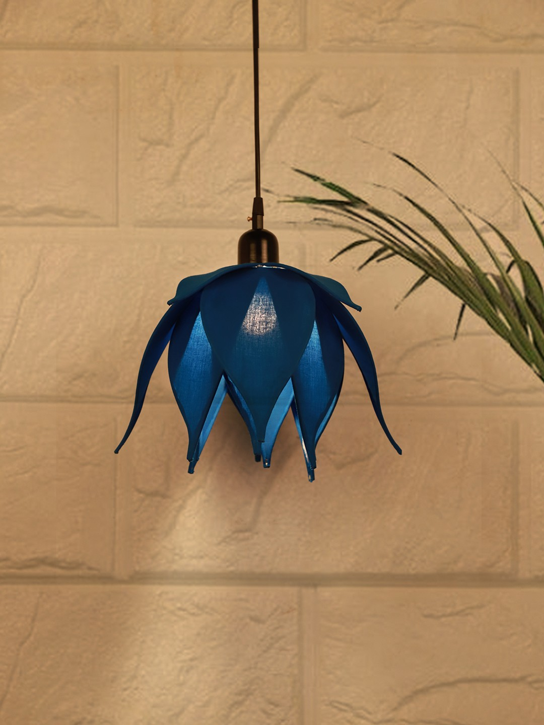 Auspicious Blue Lotus Pendant Light