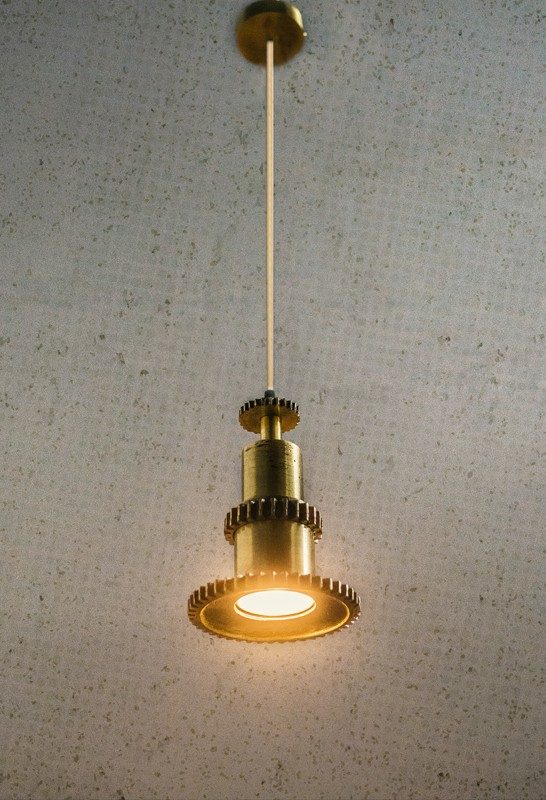 Industrial Gear Pendant Light